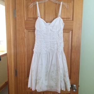 Sisley White Cotton Dress: Medium